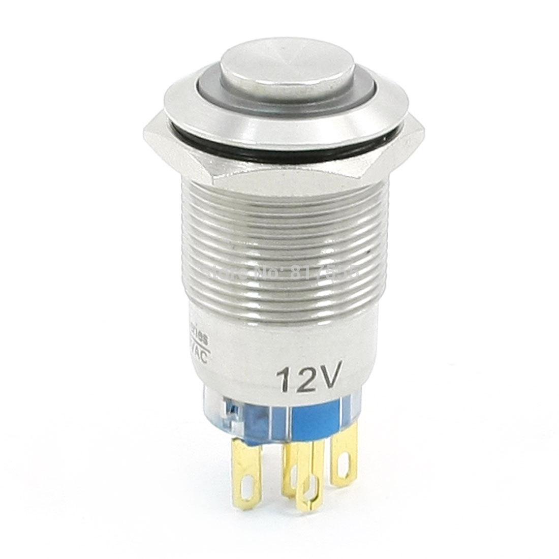 Кнопочный переключатель Amico DC 12V 19 Dia NC a13101600ux0102
