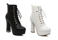 brand fashion women shoes high heels round toe platform gladiator autumn and winter women ankle boots original video #