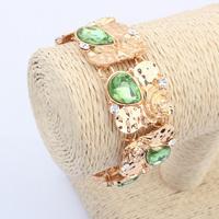 2014 New Fashion 4colors Vintage Bracelet Gem Rhinestone Bracelet&Bangle Alloy Luxury Jewelry For Women FreeShipping