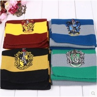 New 4 Colors Harry Potter Scarves Movie Fans' Favorite School Unisex Striped Gryffindor Scarve scarf Free Shipping