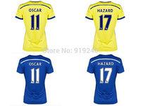 Customize! 14/15 season Women Chelsea jersey top quality soccer uniforms Size S M L