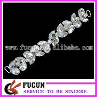 shine glass stone bikini connector,high quality connector,free shipping fee connector for bikini