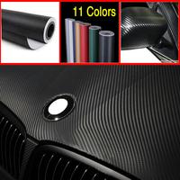 car styling Cool Fashon DIY 50CM*200CM Carbon Fiber Wrap Roll car Sticker For Car Auto Vehicle Detailing