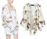 2014 New Fashion sexy   Womens Long sleeve COPINE   Playsuit Club Bodysuits Printed  Elegant  y136