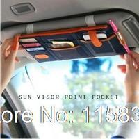 New Multifunction Car Sun visor Storage bag with Pocket Car hanging bag Auto Organizer Arrangement Bag for sun visor 3 colors