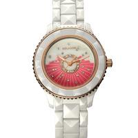 Brand authentic Wilai Preston white ceramic watches inlaid diamond watch Korean lady waterproof quartz watch