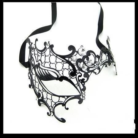 venda luxo 48pcs/lot mf002 filigrana metal veneziana máscaras máscaras- fantasma aceitar variados estilos(China (Mainland))