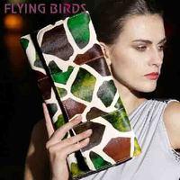 FLYING BIRDS! free shipping patchwork women clutch pu leather  Women shoulder messenger bags evening elegant  LS3753c