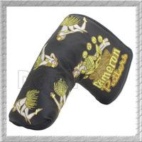 Free Shipping  New Hula Girl Black Yellow Golf Putter Studio Head Covers PU leather