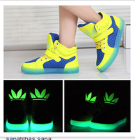 2014 Spring-Autumn Luminous Boys / Girls Children Shoes Kids Sneakers