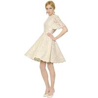Luxury Princess Dress Lace Fan-shaped Eyelash Lace Half Sleeve Cute Dress Very Beautiful Design High Quality Dropshipping