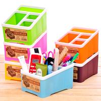 Free shipping Multi Desktop finishing box / remote control storage box / plastic 4 cell debris box