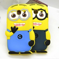 3D Cute Despicable Me 2 Minions Soft Silicone Cover Case For Samsung Galaxy Core i8262 Ace 3 S7270 S7272 S7275 1pc Free Shipping