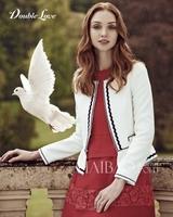 Free Shipping Classic Tweed Short Coat for women 140901HU01