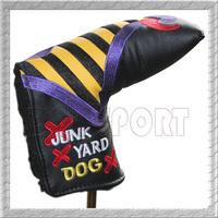 Free Shipping Custom Shop Industrial Junk Yard Dog Yellow Putter Headcover Golf
