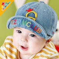 kids Peaked cap ! boys hats girls hats denim blue children spring & autumn hat print letter G  visors  ETJ-A0168