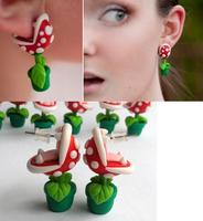 fashion new Mario Piranha Plant Earring stud earring
