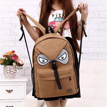 женская ba093 девочки мультфильма мешок школьной тетради softback мальчиков мужская коричневая сова холст рюкзак