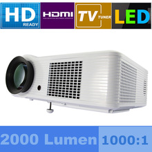 Germany DHL Shipping Full LED Beamer WXGA +SVGA 1080p 2000 Lumens HDMI USB S-Video PROJECTOR HD Ready 1000:1 AV/VGA/2*HDMI/USB(China (Mainland))