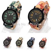 2014 hor sale new green blue vintage retro men women quartz military vintage  leather camouflages belt 100% original watch