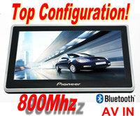2014 hot sales 7 inch Gps navigation cheapest navigator 800Mhz Bluetooth+AV-IN 4GB +DDR 128 MB +800*480 CE6.0+world Maps
