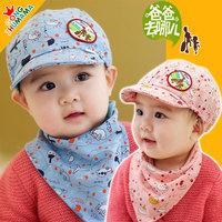Children's caps sets ! print boys girls hats kids spring autumn newborn baby scarves suit  hat and scarf  2 pcs sets ETJ-A0169
