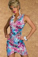 Hot ! 2014 New Fashion Summer Clothes Women Sexy V-Neck Printed Desigual Wraparound Bodycon Mini Casual Dress Free Shipping