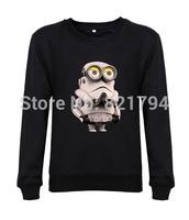 2014 new fashion men/women sweatshirts MINION STORMTROOPER STAR WARS funny movie flim mens hoody hoddes design print fleece