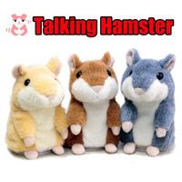 Hot Cute Speak Talking Sound Record Hamster Toy Animal Lovely Talking Hamster Plush Toys Educational Sounding Plush Toys