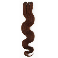 20'' 100%  Weaving Hair Extension Weft 6#(Chestnut Brown) Hair Color Body Wave Hair Style 100g/pack Free Shipping