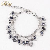 Latest Popular Fashion Style Adjustable Size hematite Beads Charm Bracelet Best Friend Girls Gift Bracelet #106