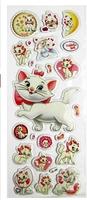 18 sheets/lot DIY Cute Kawaii Cartoon Cat Paper Sticker for Scrap booking Diary Kids Children Free shipping