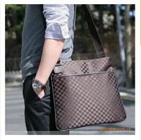 2014 Super Cheap hot sale new canvas vintage unisex plaid shoulder bag Messenger bag