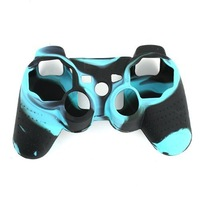 Free shipment !  Black Blue Silicon Protective Skin Case Cover for Sony  PS3 Remote Controller