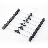 Free shipping Boutique pants hanger with clips thick socks, underwear, pants folder bold stainless steel drying folder
