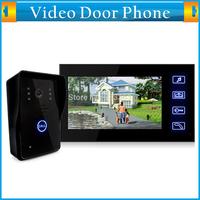 "7"" TFT Color LCD Video Door Phone Hands Free Visual Intercom Doorbell Video Record  Night Vision Touch Key 2G SD Card Rainproof"