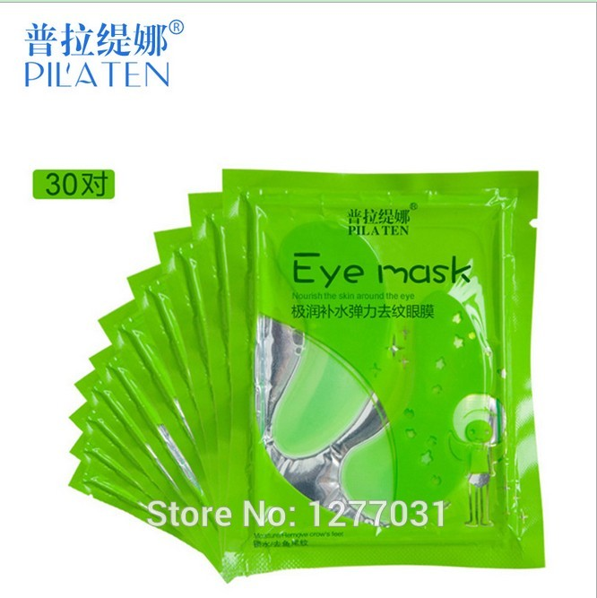 10pairs PILATEN Aloe Crystal Eye Masks Nourish Skin Around Extremely Moisturizing Elastic Eye Skin Care Micro-Wrinkle Remover(China (Mainland))