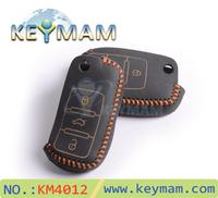 2014 New LUCKEASY vw key case, Skoda Remote Control Genuine Leather key cases,car key bag