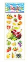 child paper toys fruit paper sticker SPONGE FROZEN STICKERS/kids toys/DIY Adhesive paper game 7*17cm