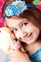 children baby headwear flower girl hairband Frozen birthday Snow Queen Elsa headband,Rhinestone, pearls. Photo prop