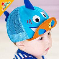 boys caps!  children's summer new trend mesh hat cap visor cute cartoon shark Visors sun hats   ETJ-A0171
