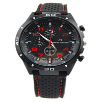Sport Army Silicone Men Rubber Wristwatch Xmas Gift Good Box Pakcage 2014 Big Face Quartz Analog Watches Free Shipping GT02