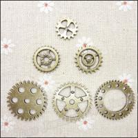 MIX 108 pcs Charms Gear Pendant  Antique bronze  Zinc Alloy Fit Bracelet Necklace DIY Metal Jewelry Findings