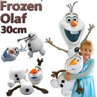 30CM Cartoon Movie Baby Kids Girls Soft Stuffed Cotton Frozen Olaf plush Animal toy Frozen Snowman Olaf Plush Baby Toy Dolls