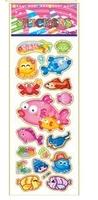 child paper toys sea beach  paper sticker SPONGE FROZEN STICKERS/kids toys/DIY Adhesive paper game 7*17cm