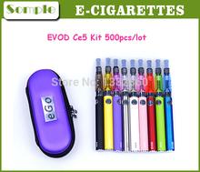 Electronic Cigarette Ego T Evod Battery 650 900 1100mAh CE4 Ce5 Atomizer For E-Cigarette Kit EVOD Ce5 Kit Various Colors 500pcs