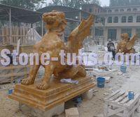 natuarl stone carved animals garden ornaments monster sculpture statue