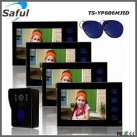 5 meters video intercom cable best video intercom waterproof wired doorbell video intercom system for apartments