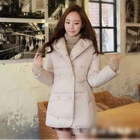 Fashion Korean 2014 New Cotton Padded Jackets for Women,Long Stylish Female Coat,Popular Casual Loose Winter Coat for Female