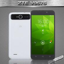 Original ZTE V967S Cell Phones 5Inch IPS Mtk6589 Quad Core 1GB RAM 4GB ROM 5mp GPS 3G Mobile Phone Russian Multi Language